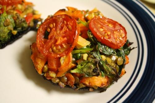 mushroom caps and veggies recipes dishmaps portobello mushroom caps ...